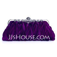 Handbags - $15.99 - Purple Gorgeous Silk Evening Clutches More Colors Available (012005430) http://jjshouse.com/Purple-Gorgeous-Silk-Evening-Clutches-More-Colors-Available-012005430-g5430