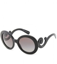 9fd1d78357 Prada - Black Mini Baroque Sunglasses - Lyst