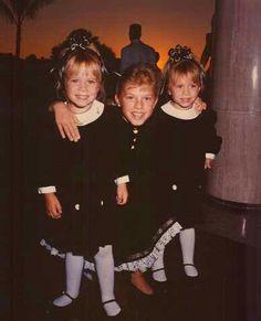 Mary-Kate Olsen(left) Jodie Sweetin(middle) Ashley Olsen(right)