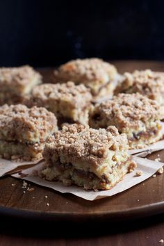 Cinnamon Swirl Banana Crumb Cake. This will dirty every dish in your kitchen but it's worth it. Very good & very moist.