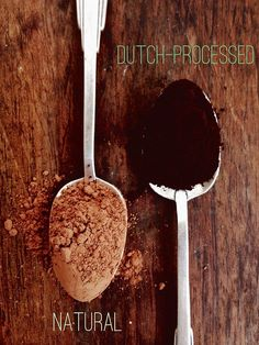 The difference between Dutch-processed and natural cocoa powder: .Dutch-processed cocoa powder in baking is usually paired with baking powder.Natural cocoa powder is usually paired with baking soda. Baking Basics, Baking Tips, Baking Hacks, Dark Chocolate Candy, Chocolate Candies, Chocolate Heaven, Red Velvet, Baking Science, Joy The Baker