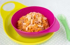Tuna and sweet potato pasta, recipe on our weaning app!
