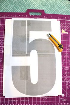 how to cut a large letter or number out of foam core