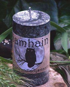 Samhain Ritual Candle $10.00 Samhain Halloween, Halloween Books, Holidays Halloween, Happy Halloween, Ritual De Samhain, Wiccan, Magick, Pagan Festivals, Candle Magic