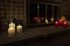 Safe #flamelesscandles #globrite for your home or cabin.
