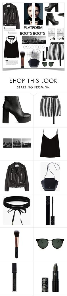 """platform boots"" by zoeypoly ❤ liked on Polyvore featuring Ann Demeulemeester, iCanvas, Raey, Acne Studios, Boohoo, Gucci, M.O.T.D Cosmetics, Spitfire, Smashbox and Lipstick Queen"