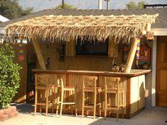 Tiki Decoration Ideas New Tiki Bar Patio Ideas Patio Ideas Outdoor Tiki Bar, Outdoor Bar Stools, Outdoor Kitchen Bars, Outdoor Ideas, Outdoor Bars, Bar Patio, Deck Bar, Tiki Hut, Tiki Tiki