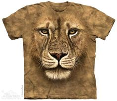 Big Face lion t-shirt by The Mountain