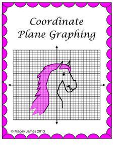 Plotting Integers - Coordinate Plane Fun! - Grid & Ordered Pairs - 4 ...