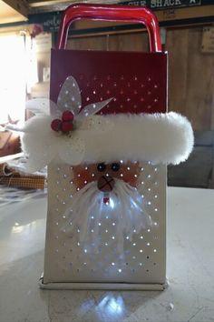 Santa Crafts, Christmas Crafts To Make, Christmas Ornament Crafts, Homemade Christmas, Christmas Projects, Simple Christmas, Christmas Wood, Holiday Crafts, Holiday Fun