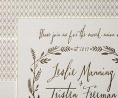 Letterpress Wedding Invitations   Harvest Design   Bella Figura Letterpress