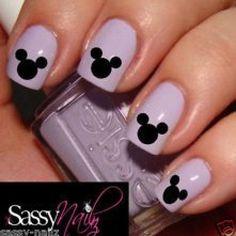 disney nail art | Mickey Mouse Disney Head nail art decal water transfer wrap not ... Source by cciesa
