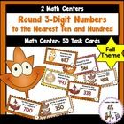 Round Numbers to Nearest Ten and Hundred Full Day Kindergarten, Teaching Second Grade, Recording Sheets, Math Class, Autumn Theme, Task Cards, Math Centers, Math Lessons, Learning Activities
