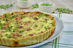 Ham pie - Sonkás pite recept A konyha világa konyhájából - Receptneked. Ketogenic Recipes, Meat Recipes, Cake Recipes, Quiches, Ham Pie, Quiche Muffins, Zucchini Puffer, Feta, Broccoli