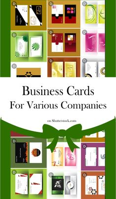 #businesscard Set with various business cards for companies, businesses in different industries. Pick the one you need. #vector #illustration #illustrationart #companycard #cardset #cardart