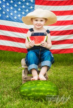 of july kids photo inspiration american flag usa red, white & blue 4th Of July Photography, Summer Photography, Children Photography, Dc Photography, 4th Of July Photos, Fourth Of July, Watermelon Photo Shoots, Baby Photos, Baby Pictures