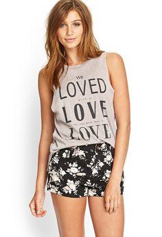 Cuffed Floral Denim Shorts | FOREVER21 #SummerForever Also EDGAR ALLAN POE's poem reference
