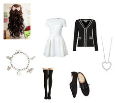 """""""Caroline Matthews Outfit #29"""" by amazingness-of-fashion ❤ liked on Polyvore featuring Alexander McQueen, Louche, Wet Seal and Tiffany & Co."""