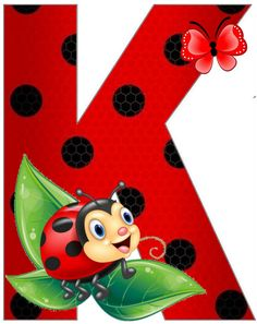 Alphabet Art, Alphabet And Numbers, Lady Bug, Ladybug Art, Bear Coloring Pages, Baby Posters, Clip Art Pictures, Painting For Kids, Diy And Crafts