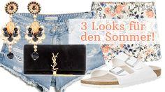 3 Looks für den Sommer. #Sommerlooks #Outfits #Shopping #SummerLooks #Sommertrend #Sale #Mode #Fashion #Style #Outfit #Look #Sommer #Shorts #Birkenstock #Sonnenbrille