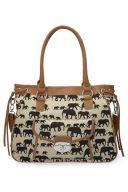 .Elephant Print bag.                t