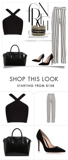"""black and white"" by strawberr-y ❤ liked on Polyvore featuring BCBGMAXAZRIA, Nicholas, Givenchy, Gianvito Rossi and Eloquii"