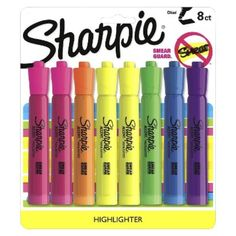 I'm learning all about Sanford Sharpie Asst. Highlighter Marker at Erasable Highlighters, Sharpie Highlighter, Best Highlighter, Stationary Organization, Planner Organization, Stationary Supplies, School Organization, School Supplies, Office Supplies