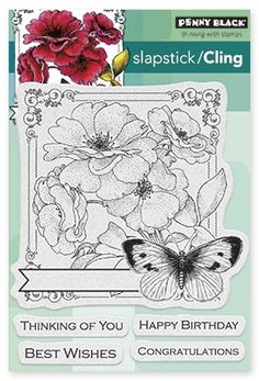 Collage Of Wishes - Slapstick Cling Rubber Stamp
