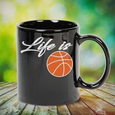 Life Is Basketball Gift Basketball Lovers Players Great basketball t shirt/mug/bag gift for family, friends, basketball players, basketball lovers or any women, men, girls, boys you know who loves basketball. Perfect basketball t shirt, funny basketball tshirts, Funny basketball Shirt for Men and Women, basketball shirt for women, basketball shirt for men, basketball gifts for teen girl boy. - get yours by clicking the link in my profile bio.