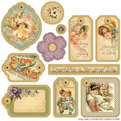 6a011570479cdc970b017c32229909970b-800 (695x700, 419Kb) Vintage Paper Crafts, Decoupage Vintage, Vintage Paper Dolls, Scrapbook Journal, Scrapbook Cards, Scrapbooking, Vintage Tags, Vintage Labels, Graphic 45