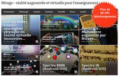 Les+applications+de+réalité+augmentée+#Mirage+#RA+#EcoleNumerique