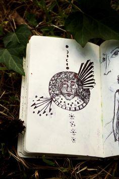 △△△   #fullmoon #metamorphosis #afro #moonlight #illustration #sketch #sketchbooks #stars #face #eyes #portrait #fantasy #sketchbook #ink #Sun #Moon #Dream #Dreamsun #Shidrawing