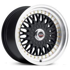 Spec-1 SP-3T Trak Edition wheels, gloss black center with machined lip rims.