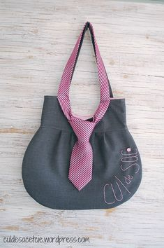 https://flic.kr/p/cKoDad | necktie bag | made from upcycled materials! listing: www.etsy.com/listing/106029169/necktie-bag-an-eco-friendl...