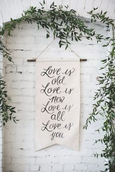 Love is... old/new/all/you!