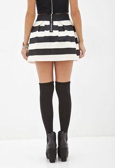 zwart wit streep rok