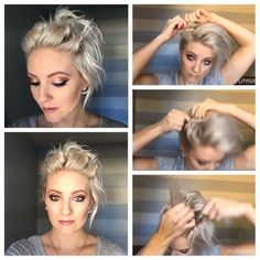 Today we have the most stylish 86 Cute Short Pixie Haircuts. Short Hair Up, Short Hair Styles, Good Hair Day, Great Hair, My Hairstyle, Pretty Hairstyles, Cut My Hair, New Hair, Haircut And Color