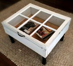 Window as a coffee table