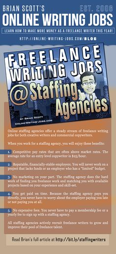 How to Find Freelance Writing Jobs at Staffing Agencies by Brian Scott
