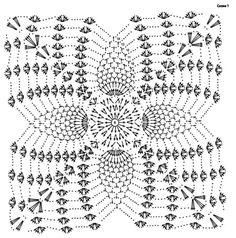 Crochet Vest Pattern, Crochet Mandala Pattern, Granny Square Crochet Pattern, Crochet Stitches Patterns, Crochet Squares, Crochet Designs, Crochet Bedspread, Crochet Pillow, Crochet Tablecloth