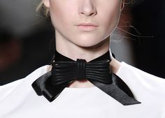 The bow tie for women: Yigal Azrouel A/W '11