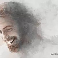 water color painting of Jesus Christ Paintings Of Christ, Jesus Christ Painting, Christian Paintings, Jesus Art, Christian Art, Pictures Of Jesus Christ, Jesus Christ Images, Jesus Laughing, Laughing Jesus Picture