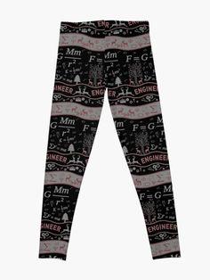 'Engineer Ugly Christmas Day Clothing' Leggings by Best Leggings, Selling Online, Printed Leggings, Being Ugly, Engineering, Pajama Pants, Pajamas, Day, Clothing