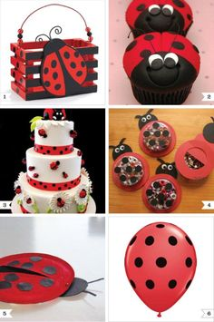 For Lisa A. My friend Monica has a whole board devoted to lady bug party. Guessing you'll want this for Jill. Baby Ladybug, Ladybug Party, Ladybug Cupcakes, Ladybug Picnic, First Birthday Parties, Girl Birthday, First Birthdays, Birthday Ideas, Bubble Birthday