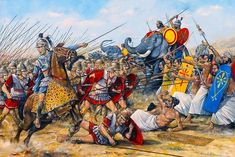 Ancient war Art, Ancient historical art prints from ancient Greece and Roman history of Alexander the Great, Julius Caesar, Vercingetorix, Spartacus and many ancient battles in military art prints published by Cranston Fine Arts. Alexander The Great, Greek History, Ancient History, Family History, Military Art, Military History, Greco Persian Wars, War Elephant, Alexandre Le Grand