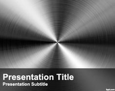 Steel PowerPoint Template is a free design for PowerPoint presentations with a steel template design in the master slide