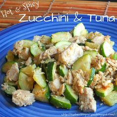 Healthy Hot and Spicy Zucchini & Tuna recipe from {The Best Blog Recipes} http://thebestblogrecipes.blogspot.com/2013/01/healthy-zucchini-tuna.html