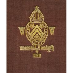 Winchester College Coat Of Arms And Motto Manners Makyth Man From Winchester College By Christopher Hawkes Published By Country Life Limited London 1933 Canvas Art - Ken Welsh Design Pics (13 x 16)