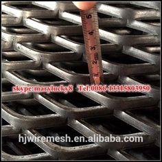 Diamond hole expanded metal mesh