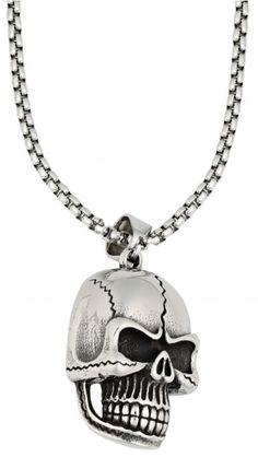 Μενταγιόν με Αλυσίδα Νεκροκεφαλή Zippo από ανοξείδωτο ατσάλι. Αποστέλλεται με το κουτί Zippo Cool Gifts, Skull, Pendant Necklace, Gift Ideas, Jewelry, Jewlery, Jewerly, Schmuck, Jewels